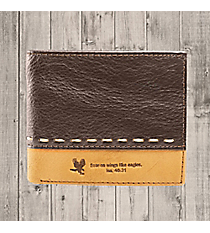 Isaiah 40:31 Two-Tone Genuine Leather Bi-Fold Wallet #WT031