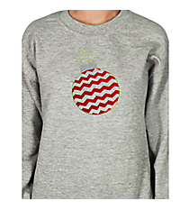 "Festive ""Chevron Ornament"" Heavy-weight Crew Sweatshirt 5"" x 5.75"" Design XM02 *Choose Your Colors"
