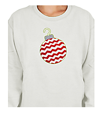 "Festive ""Chevron Ornament"" Ladies Relaxed Fit Boxy Crew Sweatshirt 5"" x 5.75"" Design XM02 *Choose Your Colors"