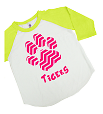 Chevron Paw Youth 3/4 Sleeve Raglan Tee *Choose Your Color