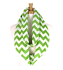 Lime and White Chevron Loop Scarf #Z589-LIME