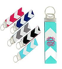 One Chevron Keychain #Z674 *Choose Your Color