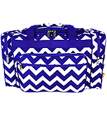 "20"" Royal Blue Chevron Duffle Bag #ZCM420-ROY/BL"