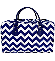 Royal Blue Chevron Square Tote #ZCM631-ROY/BL