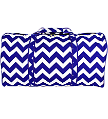 Royal Blue Chevron Duffle Bag #ZCM632-ROY/BL