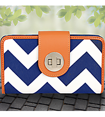 Royal Blue Chevron Clutch Wallet #ZCM694-ROY/NAVY