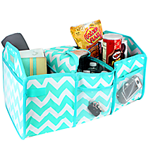 Light Aqua Chevron Utility Storage Tote with Insulated Bag #ZIA516-L/AQUALight Aqua Chevron Utility Storage Tote with Insulated Bag #ZIA516-L/AQUA