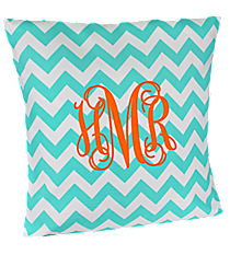 Aqua Chevron Throw Pillow Slipcover #ZIA685-AQUAcover #ZIA685-BLACK