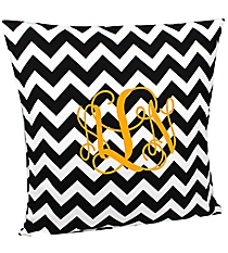 Black Chevron Throw Pillow Slipcover #ZIB685-BLACK