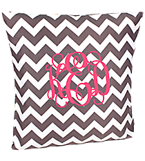 Gray Chevron Throw Pillow Slipcover #ZIG685-GRAY