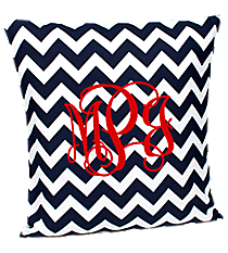 Navy Chevron Throw Pillow Slipcover #ZIN685-NAVY