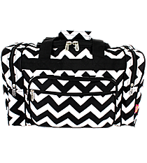 "17"" Black Chevron Duffle Bag #ZIB417-BLACK"