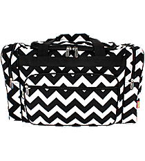 "20"" Black Chevron Duffle Bag #ZIB420-BLACK"