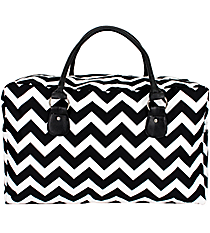 Black Chevron Square Tote #ZIB631-BLACK