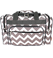 "17"" Gray Chevron Duffle Bag #ZIG417-GRAY"