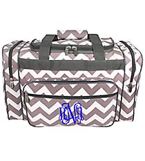"20"" Gray Chevron Duffle Bag #ZIG420-GRAY"