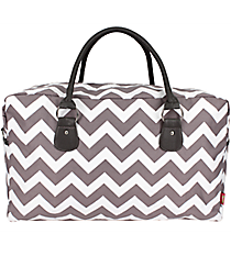 Gray Chevron Square Tote #ZIG631-GRAY