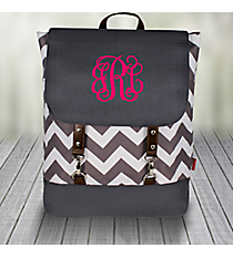 Gray Chevron Backpack with Gray Trim #ZIG650-GRAY