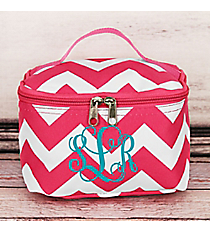 Hot Pink Chevron Cosmetic Case #ZIH277-H/PINK