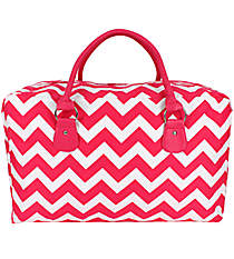 Hot Pink Chevron Square Tote #ZIH631-H/PINK