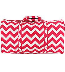 Hot Pink Chevron Duffle Bag #ZIH632-H/PINK