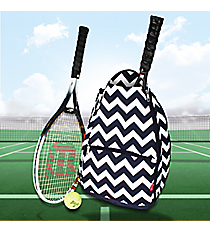 Navy Chevron Tennis Backpack #ZIN734-NAVY