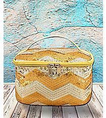 Gold Sequined Chevron Case #ZIQ277-GOLD