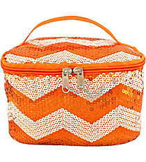 Orange Sequined Chevron Case #ZIQ277-ORANGE
