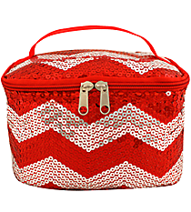 Red Sequined Chevron Case #ZIQ277-RED
