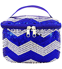 Royal Blue Sequined Chevron Case #ZIQ277-ROY/NAVY