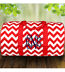 "21"" Red Chevron Quilted Duffle Bag #ZIR2626-RED"