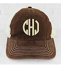 Brown Washed Trucker Cap #ZK641