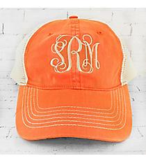 Tangerine Washed Trucker Cap #ZK641